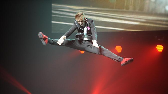 """FILE - In this Oct. 25, 2013 file photo, Nico Greetham performs at The Cobb Energy Centre as part of the """"So You Think You Can Dance"""" 2013 tour in Atlanta. The show announced on Wednesday, July 2, 2014, that among the prizes on Season 11 will be a shot at a small role in this fall's revival of """"On the Town.""""(Photo by Robb D. Cohen/Invision/AP)"""