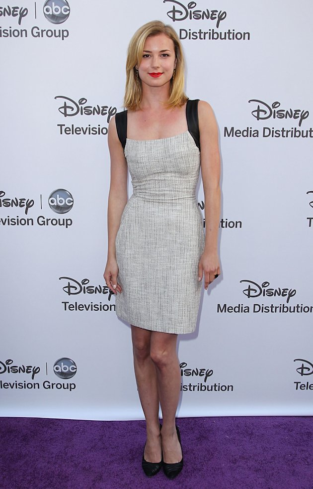 Emily VanCamp attends Disney Media Networks 2012 International Upfronts