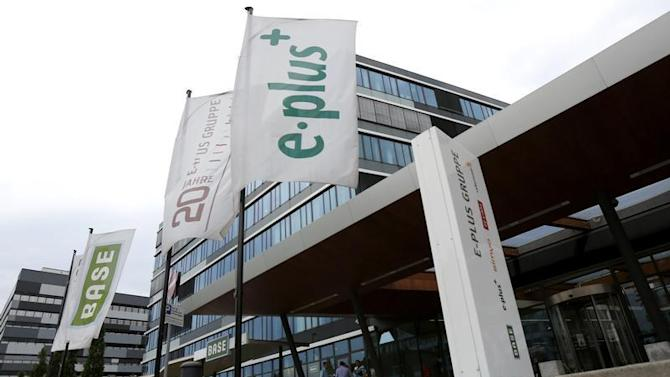 The headquarters of German mobile phone operator E-Plus Group is pictured in Duesseldorf