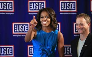 Michelle Obama visits Fort Belvoir in Virginia
