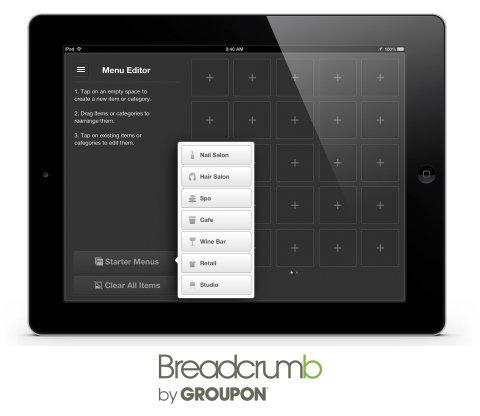 Groupon Expands Free Breadcrumb POS App