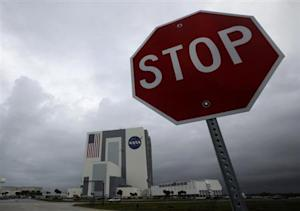 The NASA Vehicle Assembly Building is shown after mission managers scrubbed two landing attempts for the space shuttle Atlantis at the Kennedy Space Center in Cape Canaveral