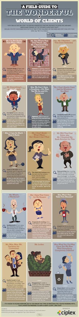 How to Handle the Most Insufferably Difficult Clients image clients infographic ciplex2