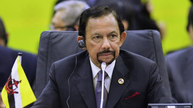 Brunei's Sultan Hassanal Bolkiah chairs the ASEAN Plus Three Summit in Bandar Seri Begawan