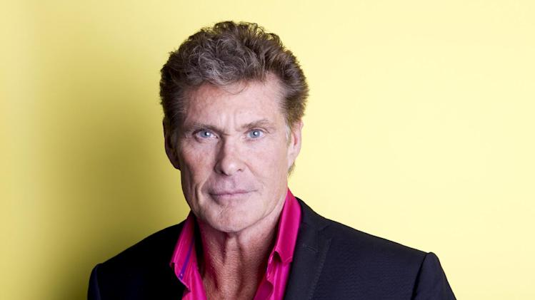 "American actor, singer and producer David Hasselhoff  poses for a portrait, on Thursday, Nov. 8, 2012 in New York. Hasselhoff appears in the Lifetime original movie, ""The Christmas Consultant"" airing Saturday, Nov. 10 at 8 p.m. EST on Lifetime. (Photo by Amy Sussman/Invision/AP)"