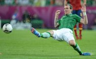 Irish midfielder Glenn Whelan during the Euro 2012 match against Spain on June 14. Whelan has spoken for the first time of the frustration Ireland&#39;s players feel playing in Giovanni Trapattoni&#39;s rigid formation