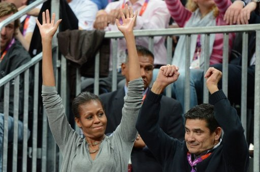First Lady Michelle Obama was on hand to support her team