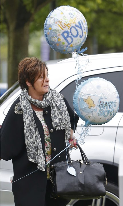 Colette McLoughlin, the mother of Coleen Rooney arrives at Liverpool Womens Hospital in Liverpool, Northern England