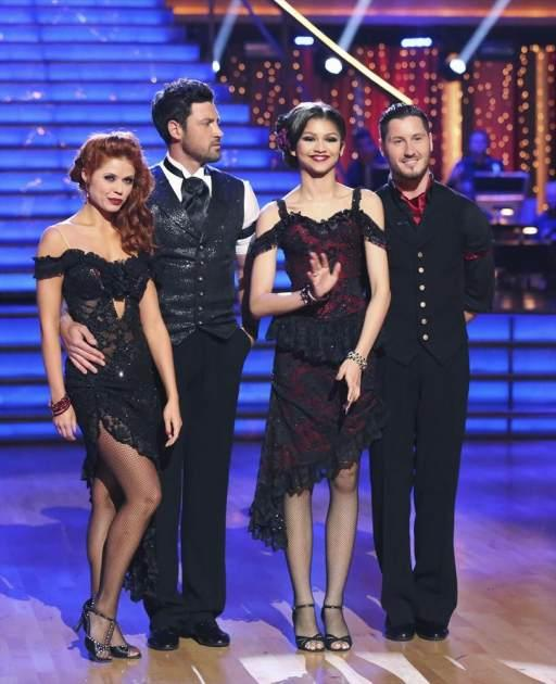Anna Trebunskaya, Maksim Chmerkovskiy, Zendaya and Valentin Chmerkovskiy on 'Dancing with the Stars,' April 15, 2013 -- ABC