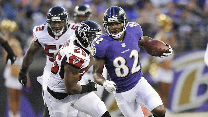 Ravens beat Falcons 27-23, but starters struggle