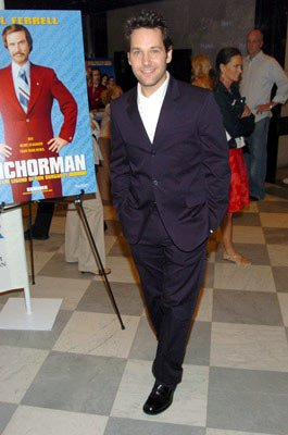 Paul Rudd at the New York premiere of Dreamworks' Anchorman