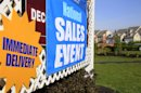 FILE- This April 21, 2012 file photo shows a house sale sign is seen at a development in Newtown, Pa. The government�s monthly jobs report has become Washington�s most anticipated and studied economic indicator _ pounced upon by politicians, economists and journalists for snap judgments as the presidential election nears. But in the real world, most everybody else just looks around and figures things out for themselves. (AP Photo/Mel Evans, File)