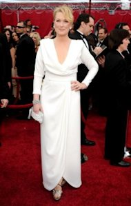 Tim Gunn thinks Meryl Streep needs a makeover! Here she is wearing a design by