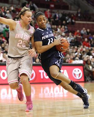 Lucas scores 23, No. 9 Penn St women roll Ohio St
