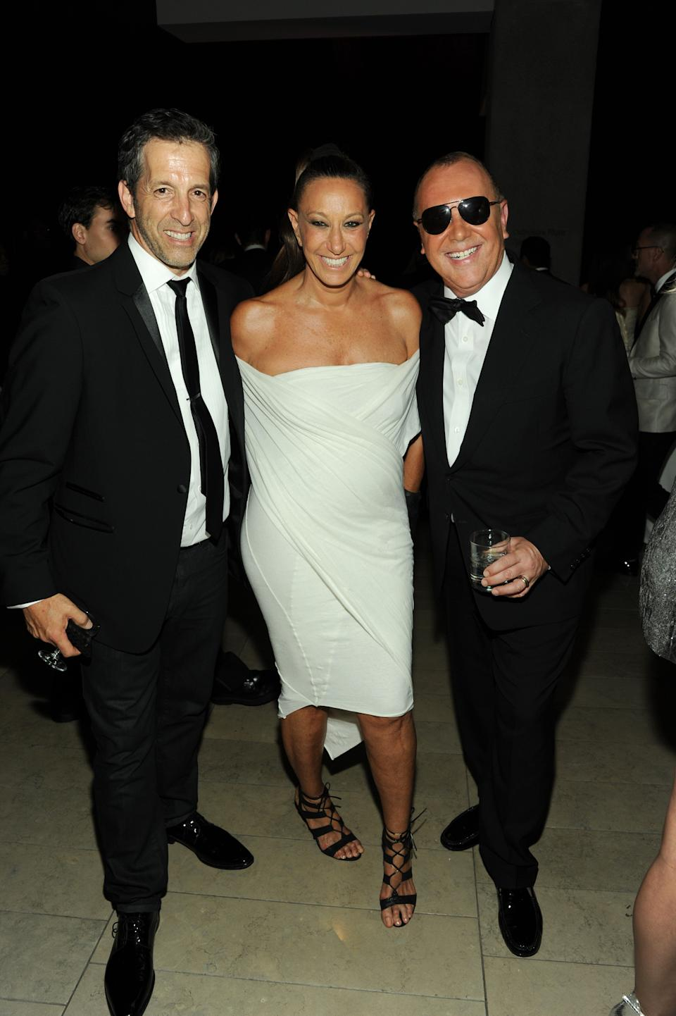 Designers' Kenneth Cole, left, Donna Karan, center and  Michael Kors attend the 2013 CFDA Fashion Awards at Alice Tully Hall on Monday, June 3, 2013 in New York. (Photo by Evan Agostini/Invision/AP)