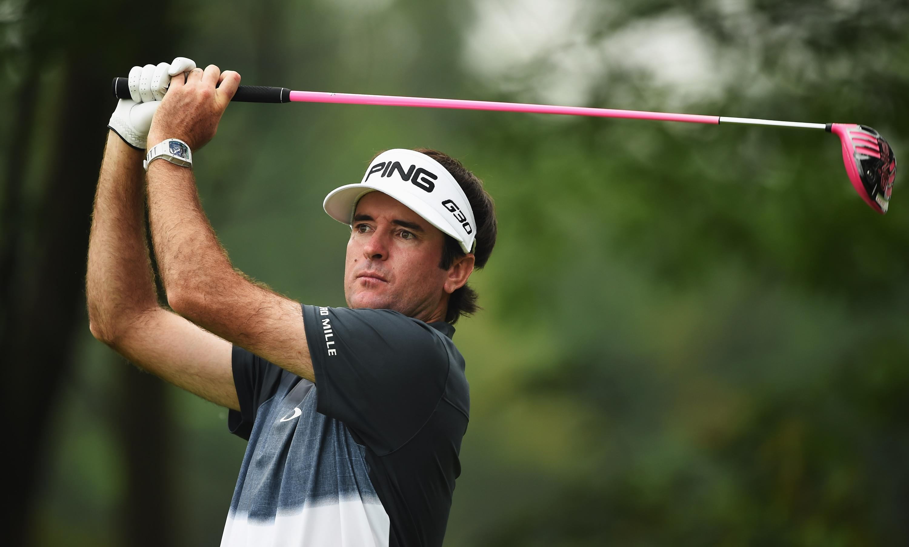 Bubba Watson takes BP with a golf club for a great trick shot