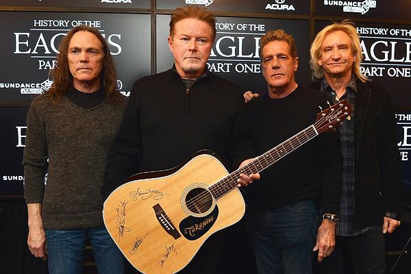 Timothy B. Schmit, Don Henley, Glenn Frey and Joe Walsh of The Eagles attend the 'History of the Eagles Part 1' Documentary Announcement during the 2013 Sundance Film Festival on January 19th, 2013 in Park City, Utah.