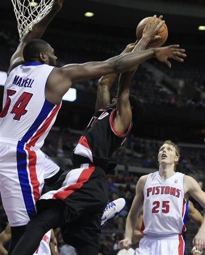 Knight leads Pistons to 108-101 win over Portland