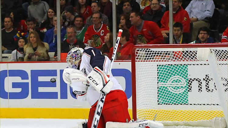NHL: Columbus Blue Jackets at Chicago Blackhawks