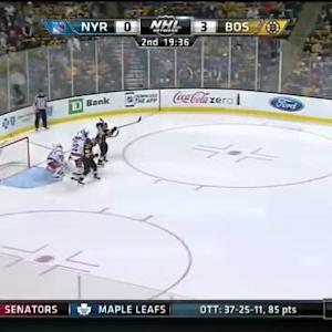 Henrik Lundqvist Save on Adam McQuaid (00:25/2nd)