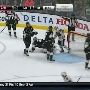 Patrick Sharp Goal on Jonathan Quick (11:42/1st)