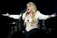Stevie Nicks performs at Elton John's AIDS Foundation's 11th annual Enduring Vision benefit on Monday, Oct. 15, 2012 in New York. (Photo by Charles Sykes/Invision/AP)