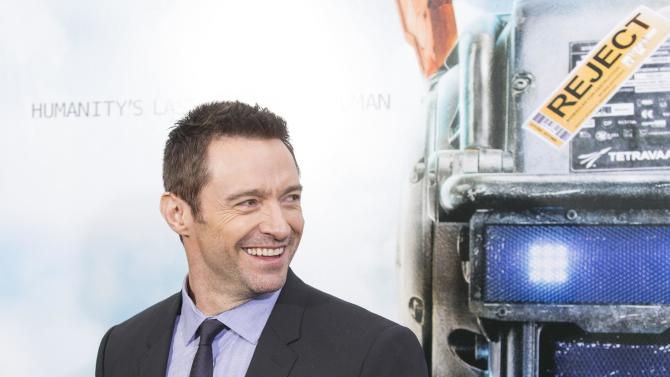 """Actor Jackman arrives for the premiere of the film """"Chappie"""" in New York"""
