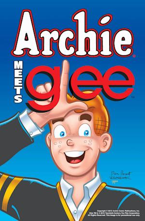 "An undated image provided by  Archie Comic Publications Inc., shows cover art for a comic featuring characters from Archie and characters from tleh television program ""Glee.""  Co-chief executive Jon Goldwater said Monday, Monday July 9, 2012,  the crossover is set for later this year or early 2013 and will encompass four issues in the ongoing ""Archie"" title.  (AP Photo/Archie Comic Publications Inc.) NO SALES"