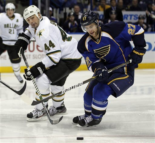 Jaroslav Halak leads surging Blues past Stars 1-0