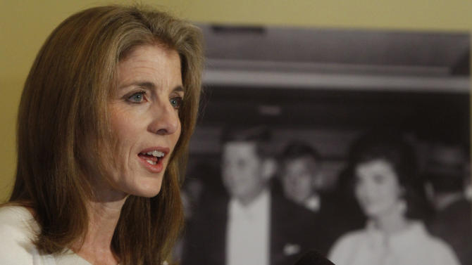 Caroline Kennedy speaks about the launch of the JFK Digital Archive, as part of the 50th anniversary of the inauguration of President John F. Kennedy, at the National Archives in Washington, on Thursday, Jan. 13, 2011. (AP Photo/Jacquelyn Martin)