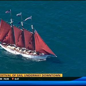 2014 Festival of Sail under way downtown