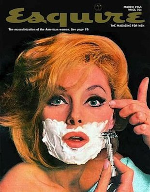 The real Marilyn shaved her face to get rid of unwanted peach fuzz. Photo courtesy of Esquire Magazine, March 1965