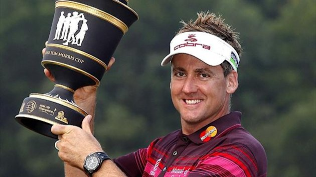 Ian Poulter wins the WGC Champions Tournament at Mission Hills (Reuters)