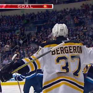 Bergeron's two-goal night