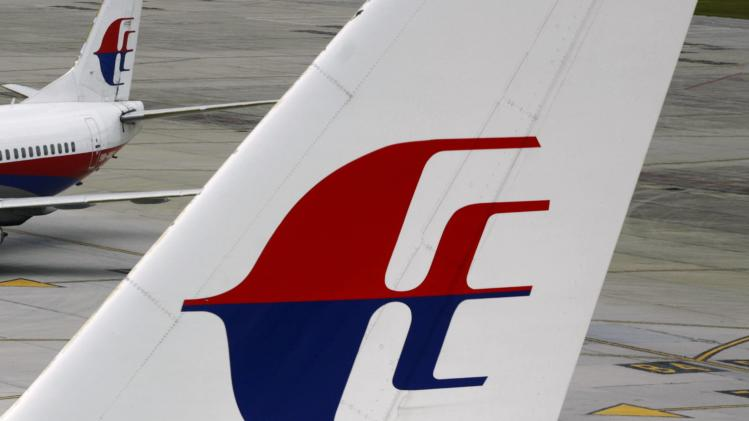 The logo of Malaysia Airlines is seen on two aircraft on the tarmac at Kuala Lumpur International Airport in Sepang