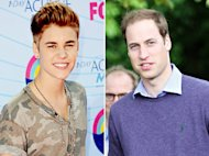 Justin Bieber Ejek Rambut Pangeran William