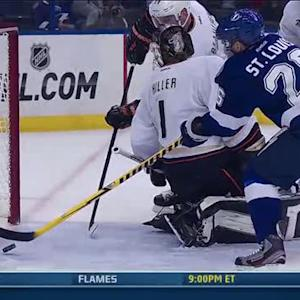 Martin St. Louis chips in the rebound