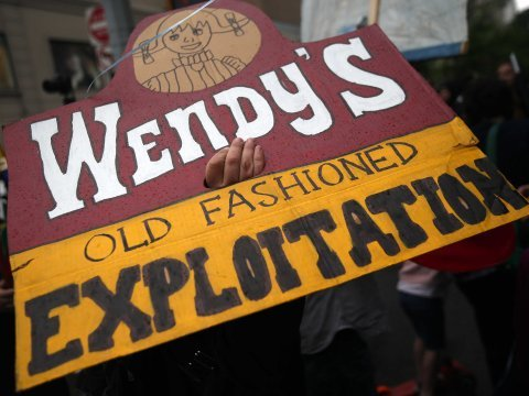 Wendy's Protest sign