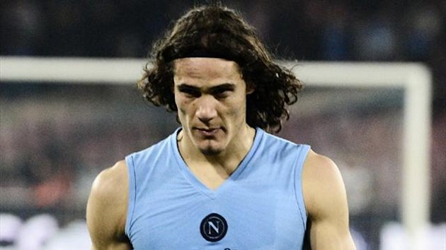 Napoli striker Edinson Cavani (AFP)