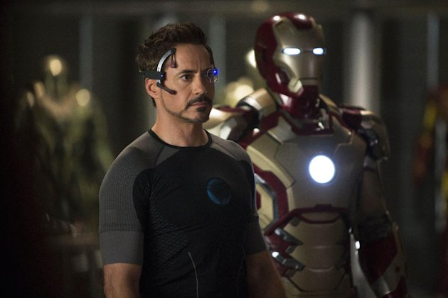 "This undated publicity image released by Marvel shows Robert Downey Jr., as Tony Stark/Iron Man, in a scene from ""Marvel's Iron Man 3."" (AP Photo/Marvel/Zade Rosenthal)"