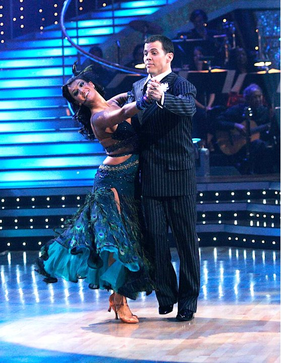 Steve-O and Lacey Schwimmer perform the Waltz to &quot;Vito's Waltz&quot; by 101 Strings Orchestra on &quot;Dancing with the Stars.&quot; 