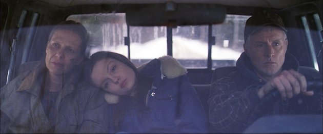 This film image released by the Tribeca Film Festival shows, from left, Amy Morton, Emily Meade, and John Slattery in a scene from &quot;Bluebird,&quot; a film that will be shown at the Tribeca Film Festival running April 17 through April 28, 2013 in New York. (AP Photo/Tribeca Film Festival, Jody Lee Lipes)