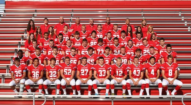 Marian Central assistant coach Steve Spoden, third from left in the back row, was fired for inflammatory Facebook comments — Marian.com