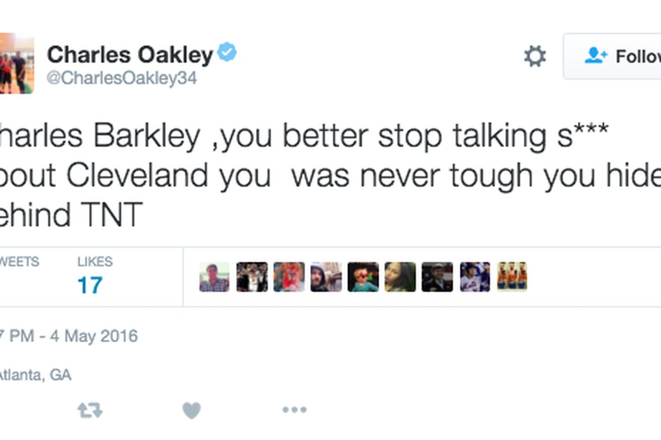 Charles Oakley called out Charles Barkley after Game 2 comments on Cavaliers-Hawks