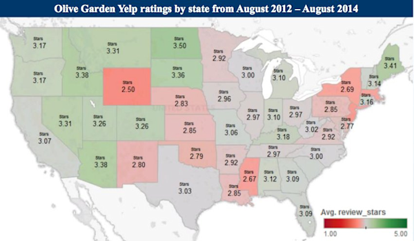 states with olive garden this map shows how your state feels about olive garden yahoo finance