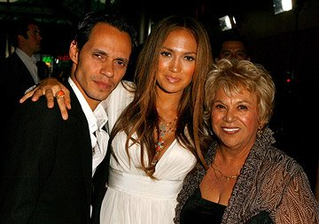 Marc Anthony , Jennifer Lopez and Lupe Ontiveros at the Los Angeles premiere of Picturehouse's El Cantante
