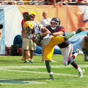 Green Bay Packers wide receiver Randall 22-yard touchdown catch