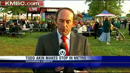Todd Akin meets with supporters in metro