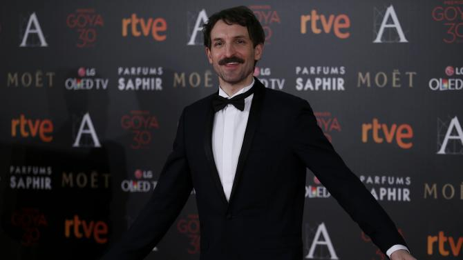 Actor Villagran poses on the red carpet before the Spanish Film Academy's Goya Awards ceremony in Madrid