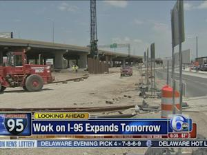 VIDEO: Work on I-95 expands Monday